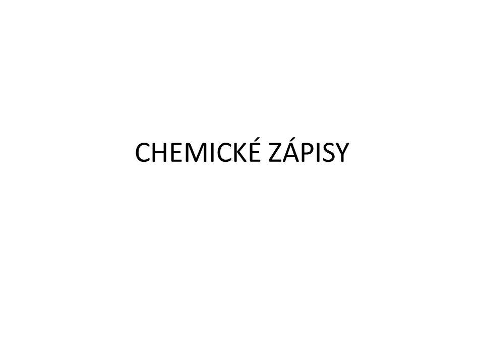 CHEMICKÉ ZÁPISY