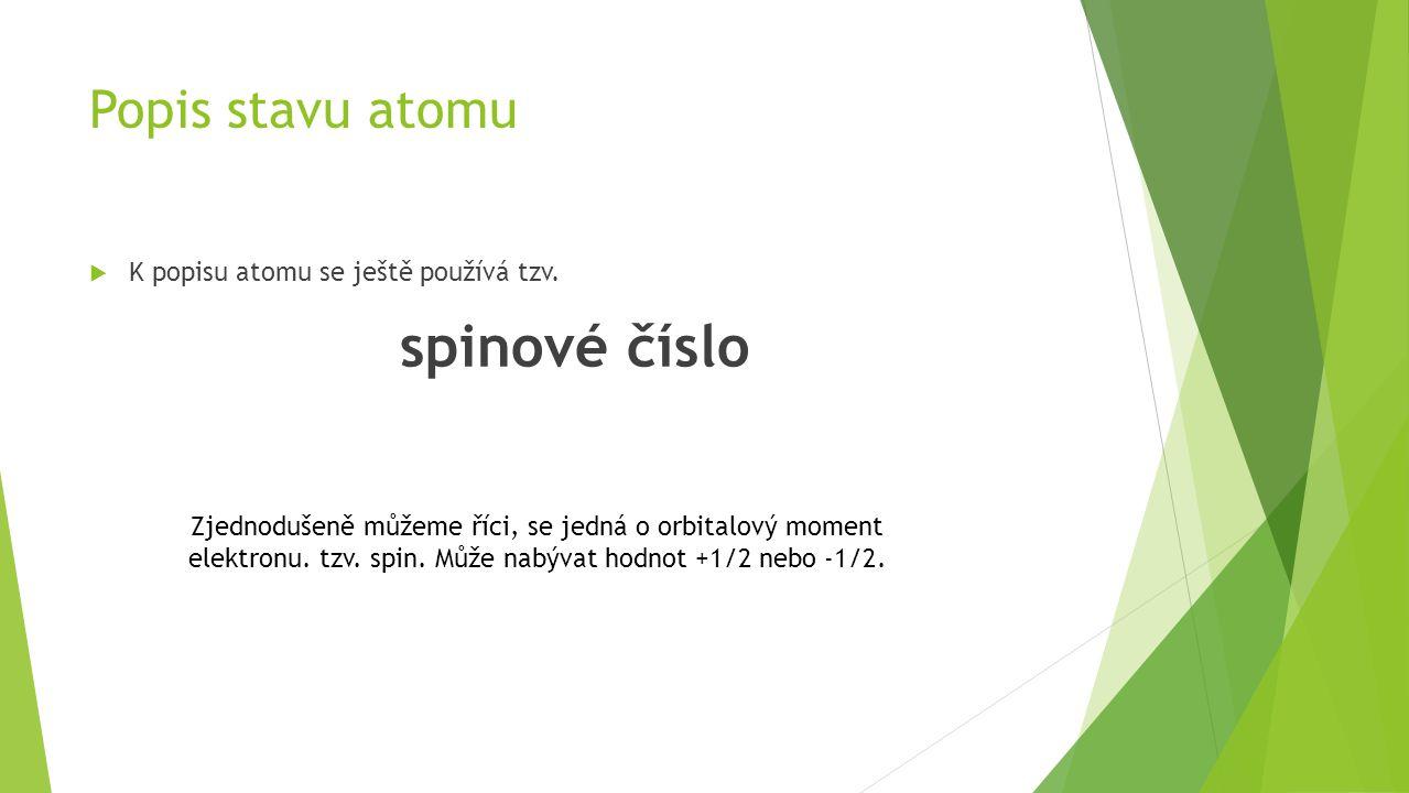  K popisu atomu se ještě používá tzv.
