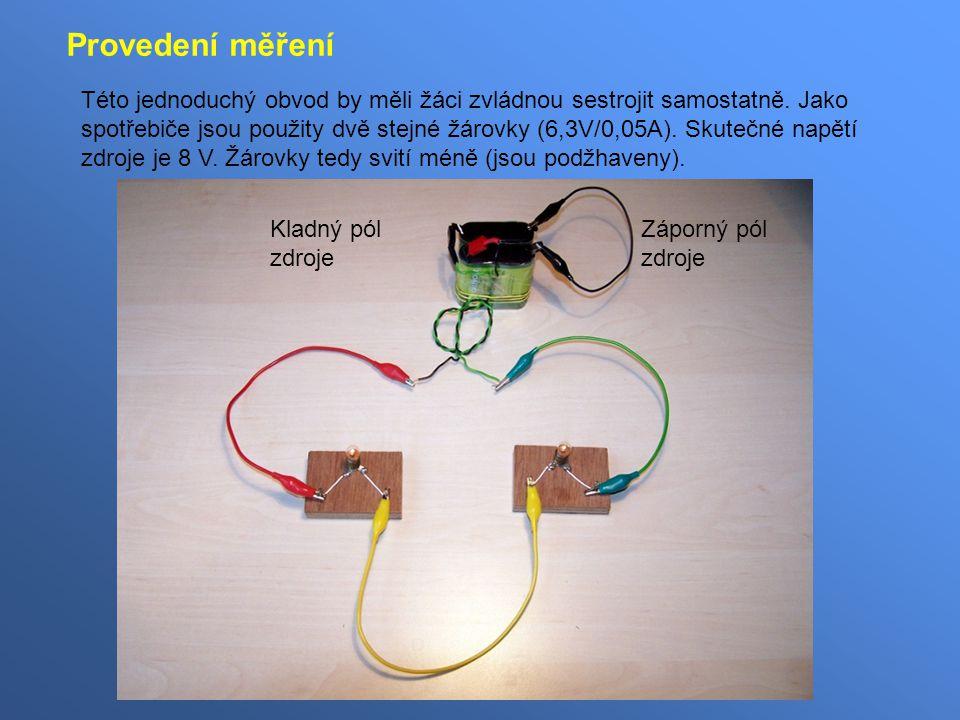 Této jednoduchý obvod by měli žáci zvládnou sestrojit samostatně.