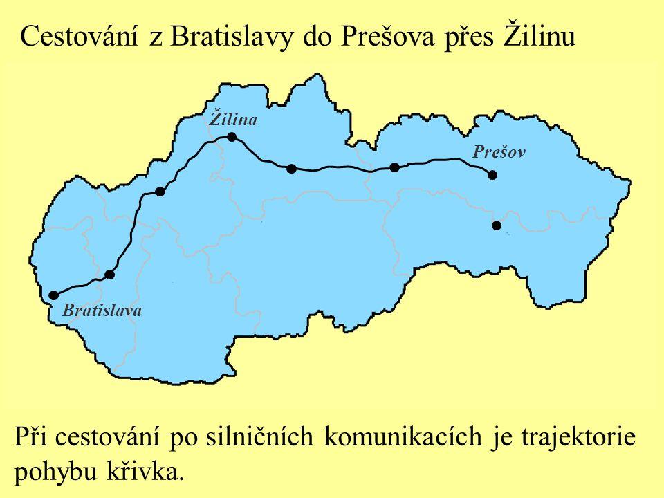 Cestování z Bratislavy do Prešova přes Žilinu Bratislava Žilina Prešov Polohu hmotného bodu v libovolném časovém okamžiku lze vyjádřit tzv.