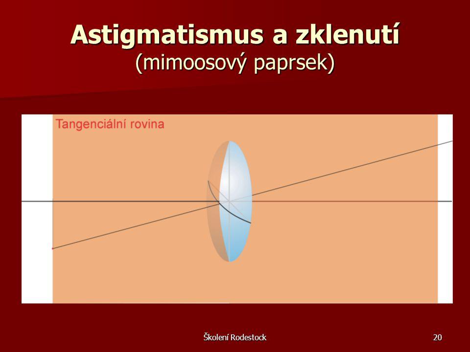 Školení Rodestock20 Astigmatismus a zklenutí (mimoosový paprsek)