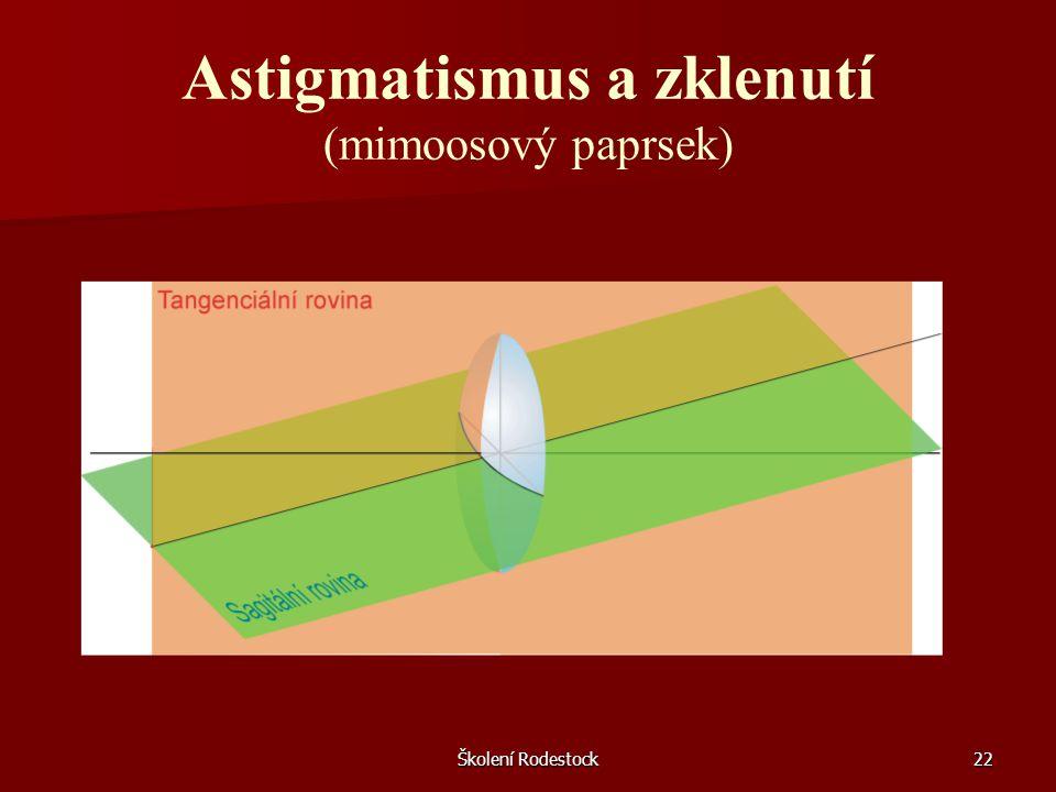 Školení Rodestock22 Astigmatismus a zklenutí (mimoosový paprsek)