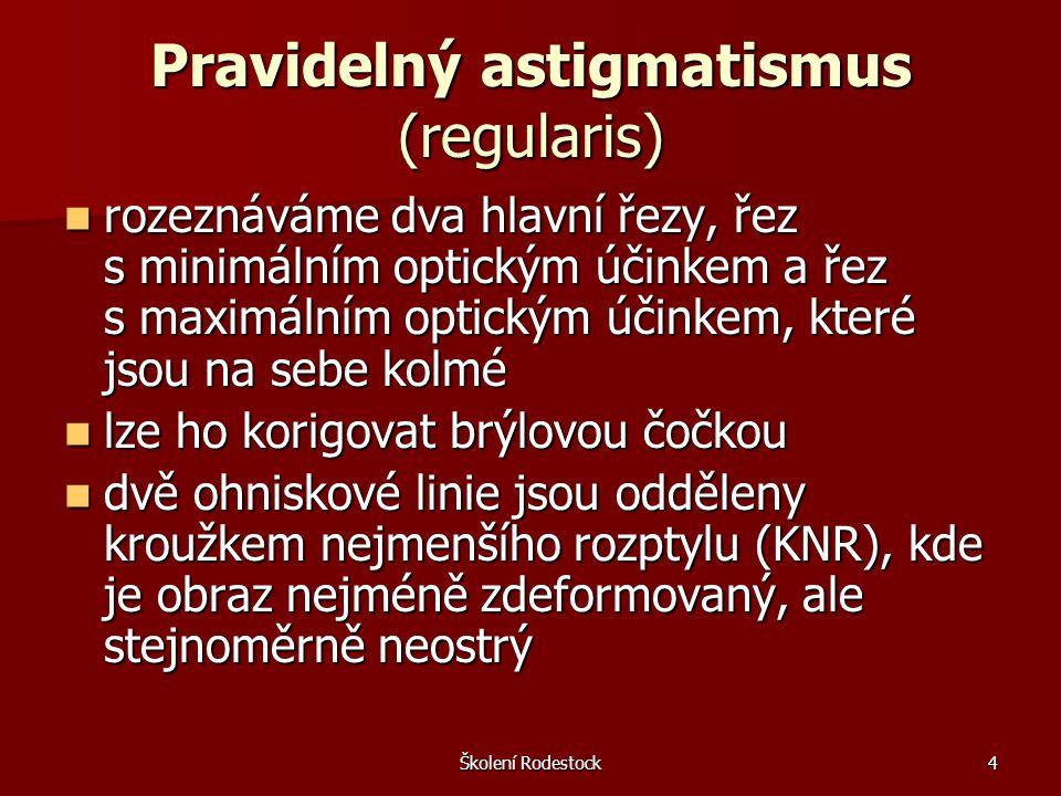 Školení Rodestock5 Pravidelný astigmatismus