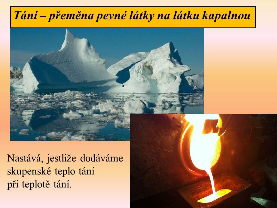 Opakování 6.Jaké teplo přijme led o hmotnosti 1,5 kg teplotě 0°C, jestliže roztaje.
