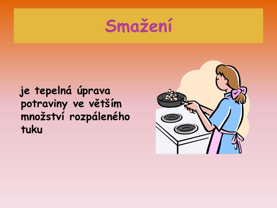 Smažení je tepelná úprava potraviny ve větším množství rozpáleného tuku