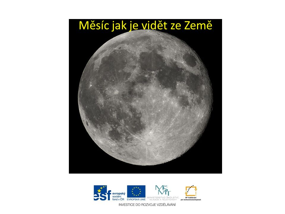 Měsíc jak je vidět ze Země