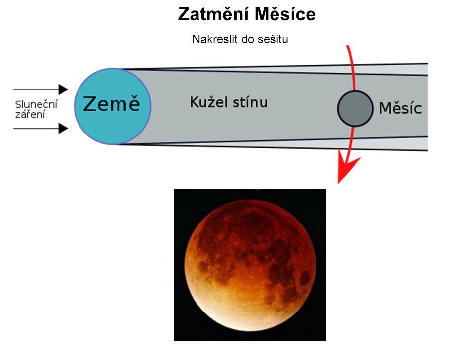 Zatmění Měsíce Nakreslit do sešitu