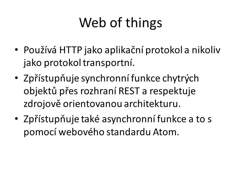 Používá HTTP jako aplikační protokol a nikoliv jako protokol transportní.