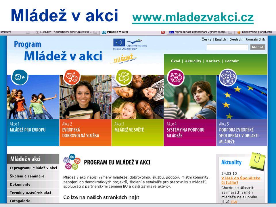 Mládež v akci www.mladezvakci.cz www.mladezvakci.cz