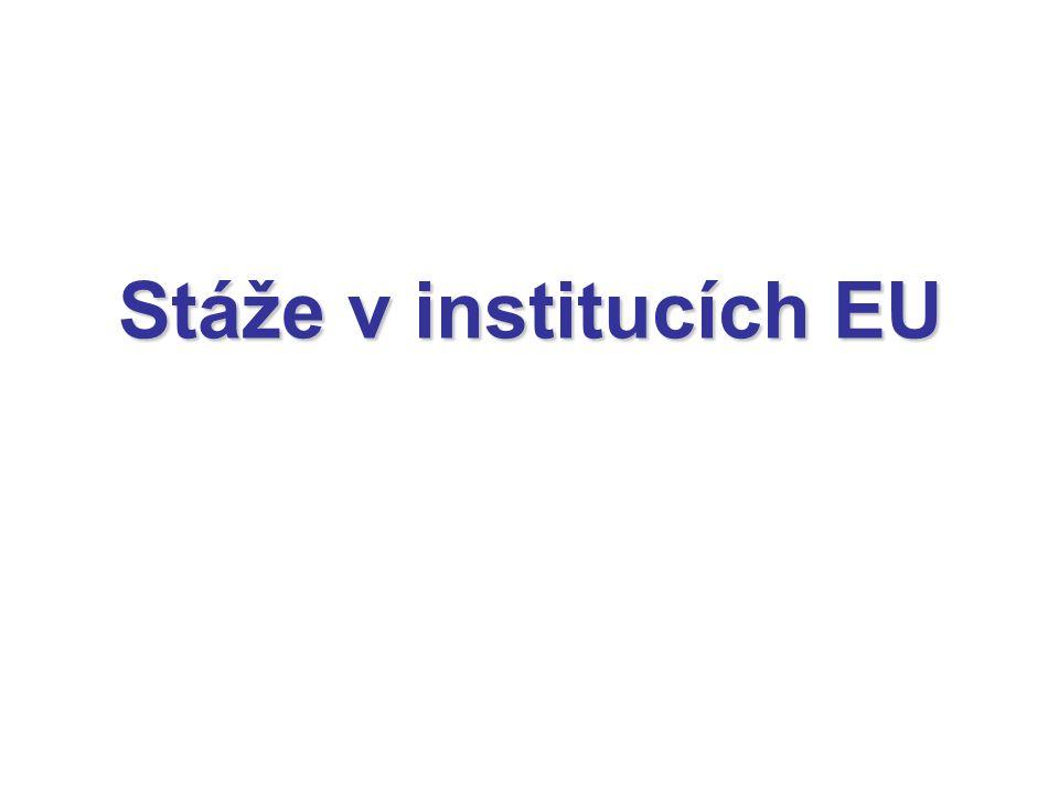 Stáže v institucích EU