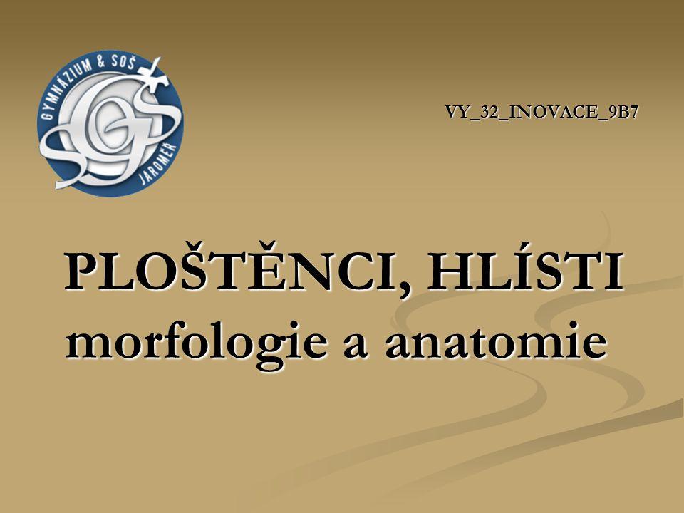 ZDROJE Obr.1: upraveno LANG, J. a kol. Zoologie I.