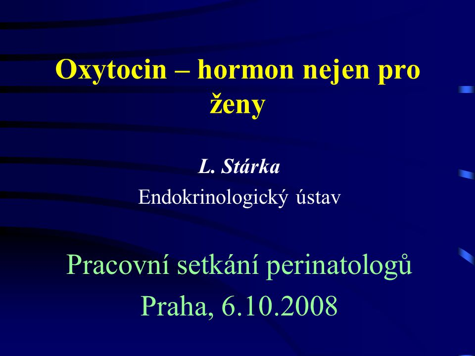 Oxytocin První synteticky připravený hormonální peptid Nobelova cena za chemii 1955 Vincent du Vignaud Cornell University, USA (18.5.1901 - 11.12.1978)