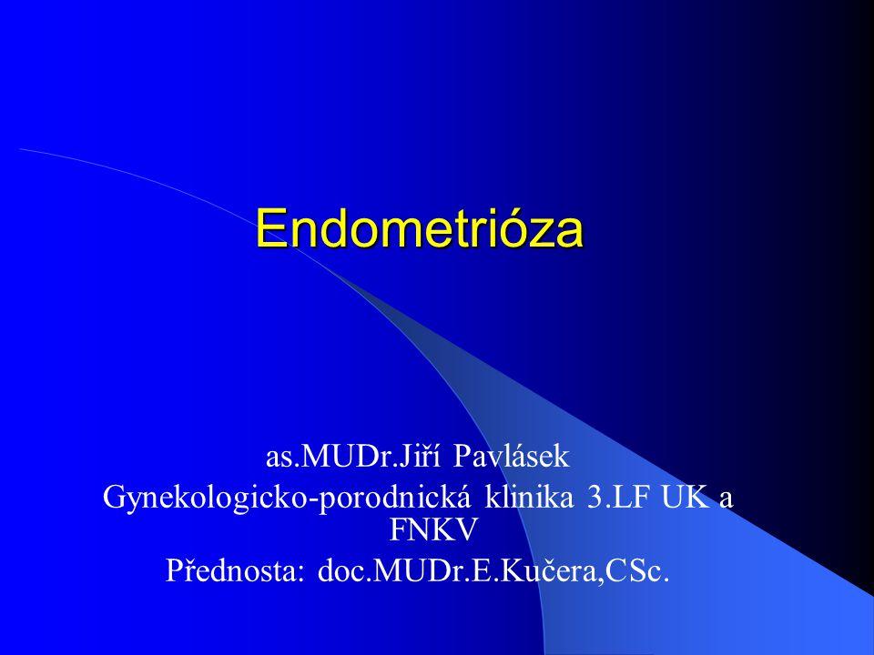 Endometrióza as.MUDr.Jiří Pavlásek Gynekologicko-porodnická klinika 3.LF UK a FNKV Přednosta: doc.MUDr.E.Kučera,CSc.