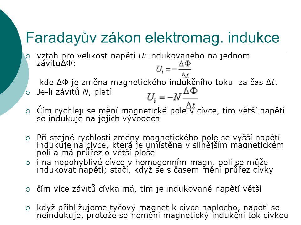 Faradayův zákon elektromag.