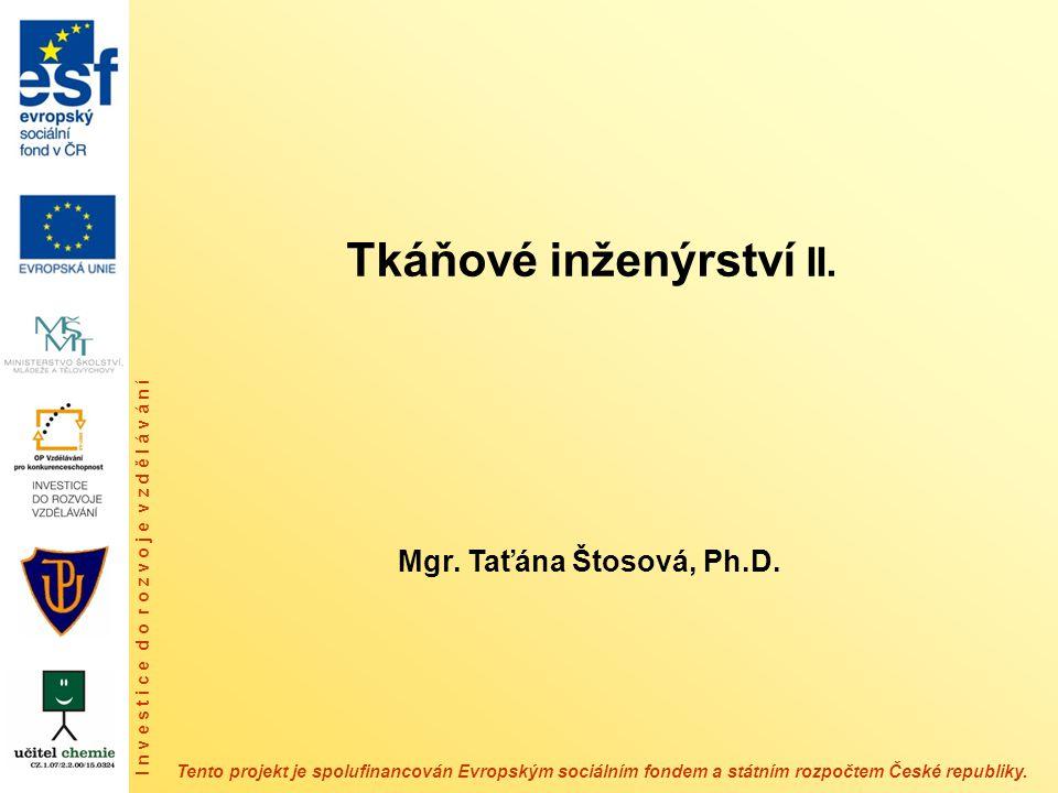 Tkáňové inženýrství II.