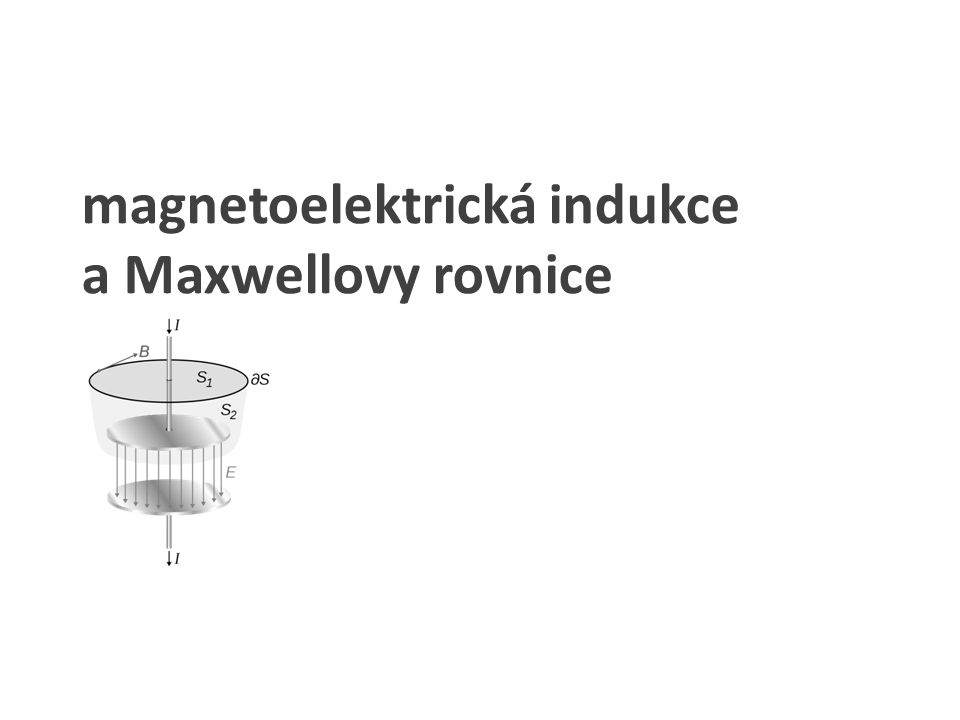 magnetoelektrická indukce a Maxwellovy rovnice