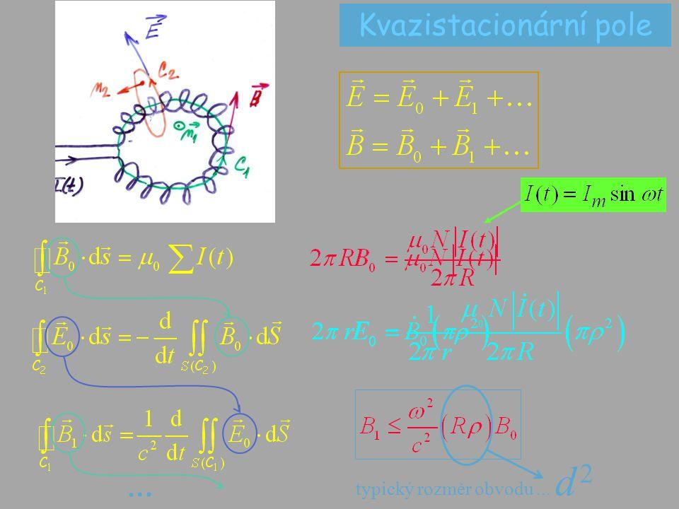 … typický rozměr obvodu... d 2 Kvazistacionární pole