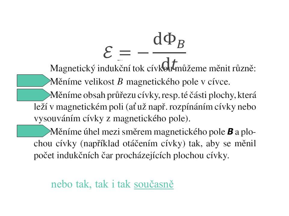 Emil Lenz 1804 - 1865 Lenzův zákon indukovaný proud (I) má takový směr, že magnetické pole (B I ) tímto proudem vzbuzené působí proti změně magnetického pole (B), která proud indukovala