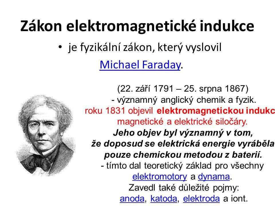 Podstata Při změně magnetického pole v okolí cívky vzniká – indukuje se na svorkách cívky elektrické napětí.