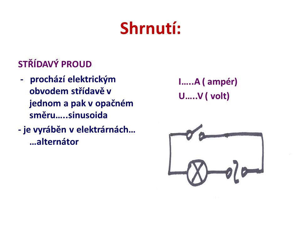 Měření střídavého proudu a napětí ampérmetr měří tzv.