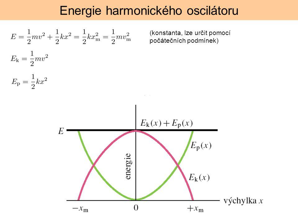Energie harmonického oscilátoru (konstanta, lze určit pomocí počátečních podmínek)