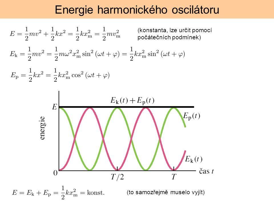Energie harmonického oscilátoru (konstanta, lze určit pomocí počátečních podmínek) (to samozřejmě muselo vyjít)