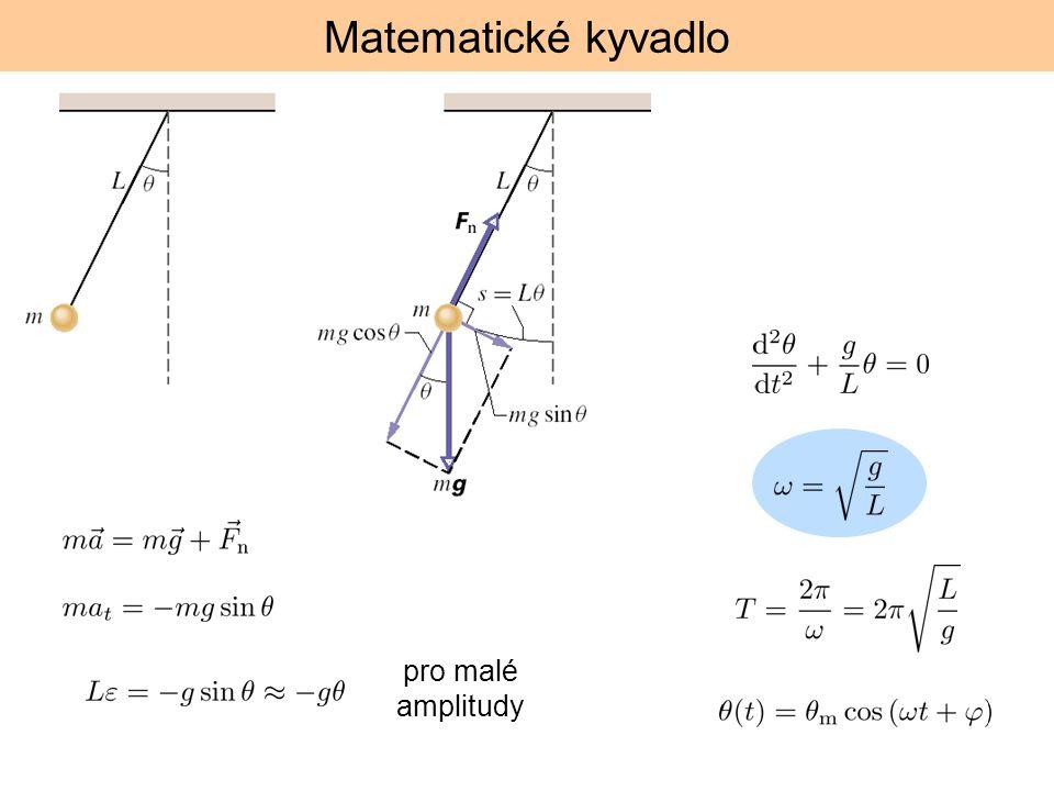 Matematické kyvadlo pro malé amplitudy