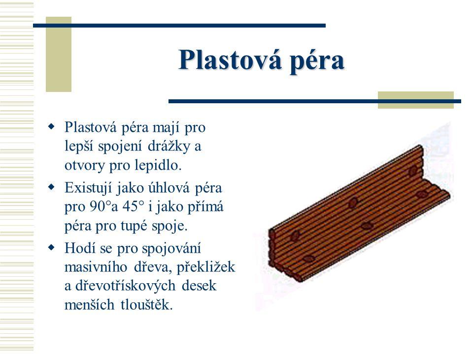 Úhlová pera ÚÚ hlová pera se používají výhradně pro rohové spoje ploch na pokos. SS kládají se z dýh nalepených křížově na sebe. RR ozměr úhlový