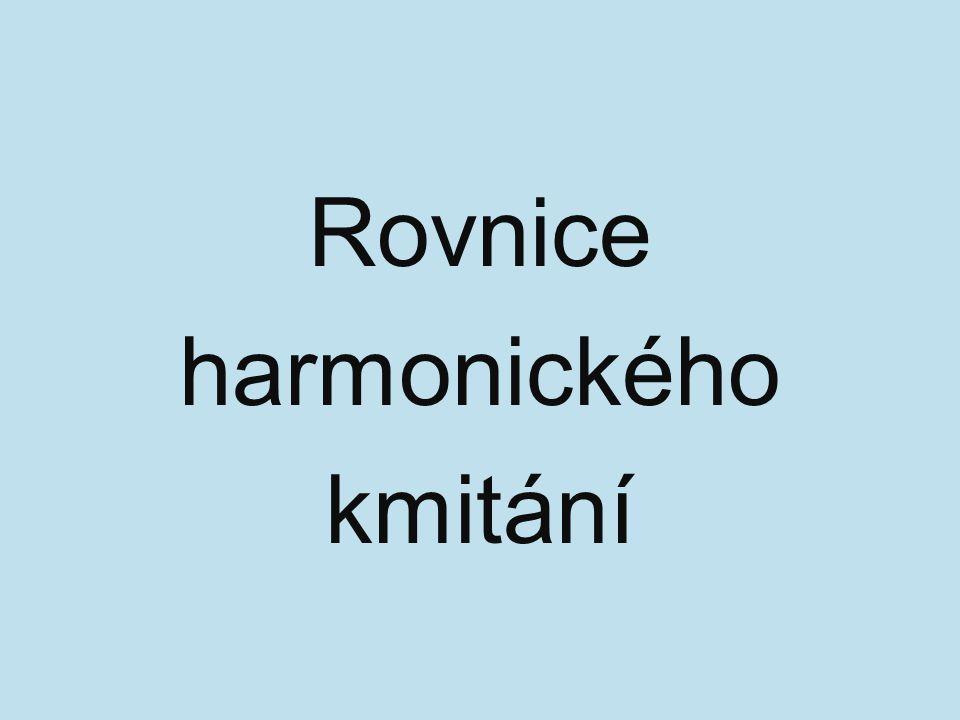 Rovnice harmonického kmitání
