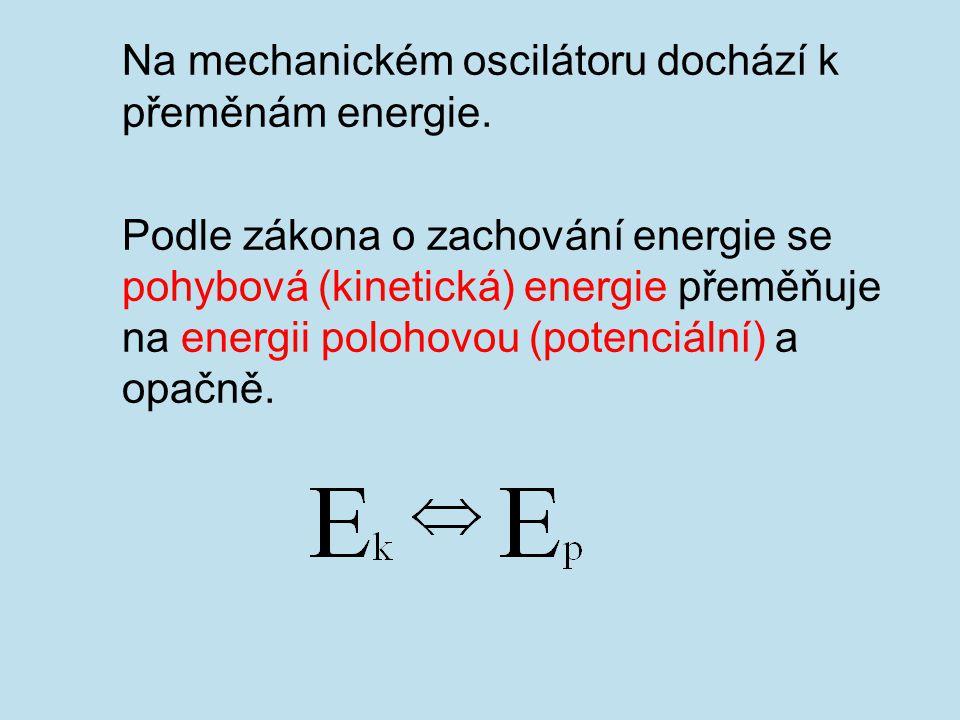 Na mechanickém oscilátoru dochází k přeměnám energie.