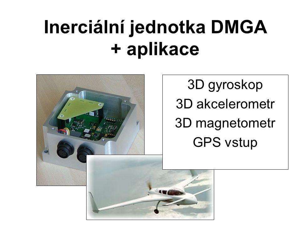 Inerciální jednotka DMGA + aplikace 3D gyroskop 3D akcelerometr 3D magnetometr GPS vstup