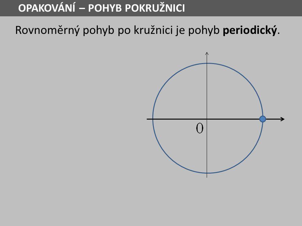 Rovnoměrný pohyb po kružnici je pohyb periodický. OPAKOVÁNÍ – POHYB POKRUŽNICI