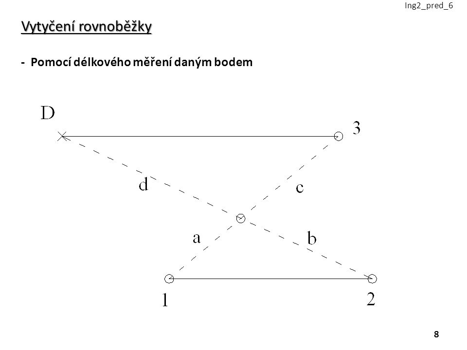 Vytyčení rovnoběžky - Pomocí délkového měření daným bodem Ing2_pred_6 8