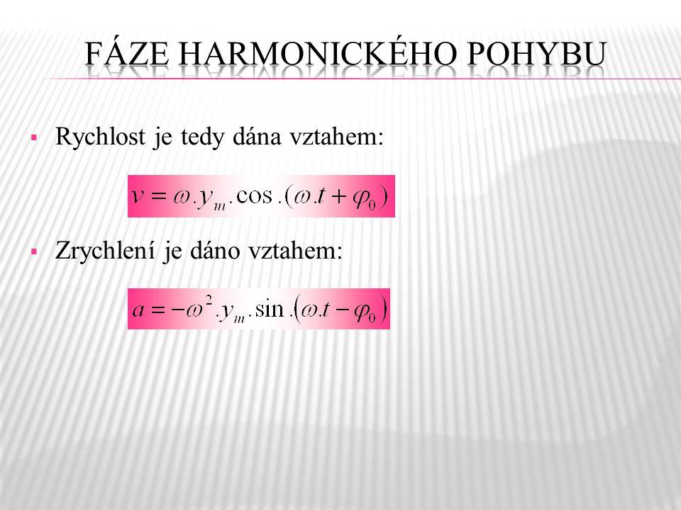  Počáteční fáze je studována zejména při sledování dvou harmonických pohybů, kdy je určován fázový rozdíl.  Fázový rozdíl je dán rozdílem počátečníc