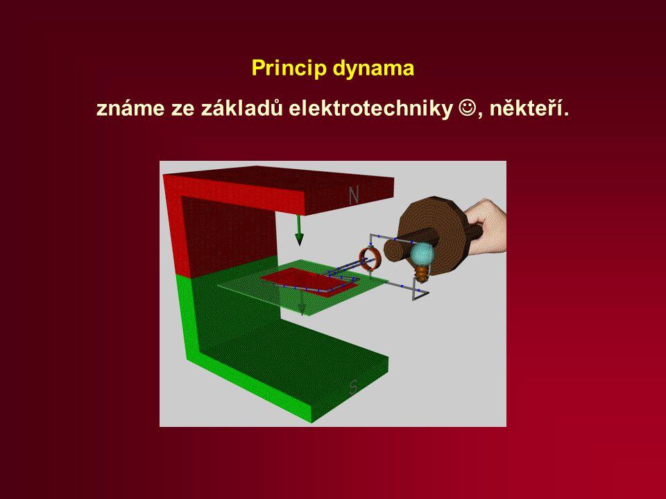 Princip dynama známe ze základů elektrotechniky, někteří.