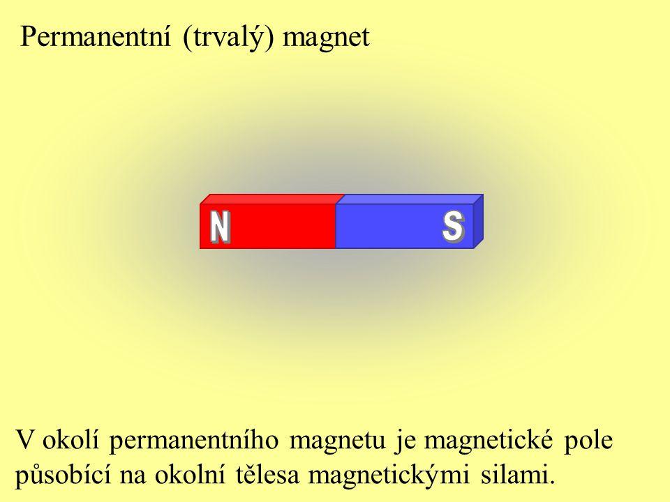 V okolí permanentního magnetu je magnetické pole působící na okolní tělesa magnetickými silami. Permanentní (trvalý) magnet