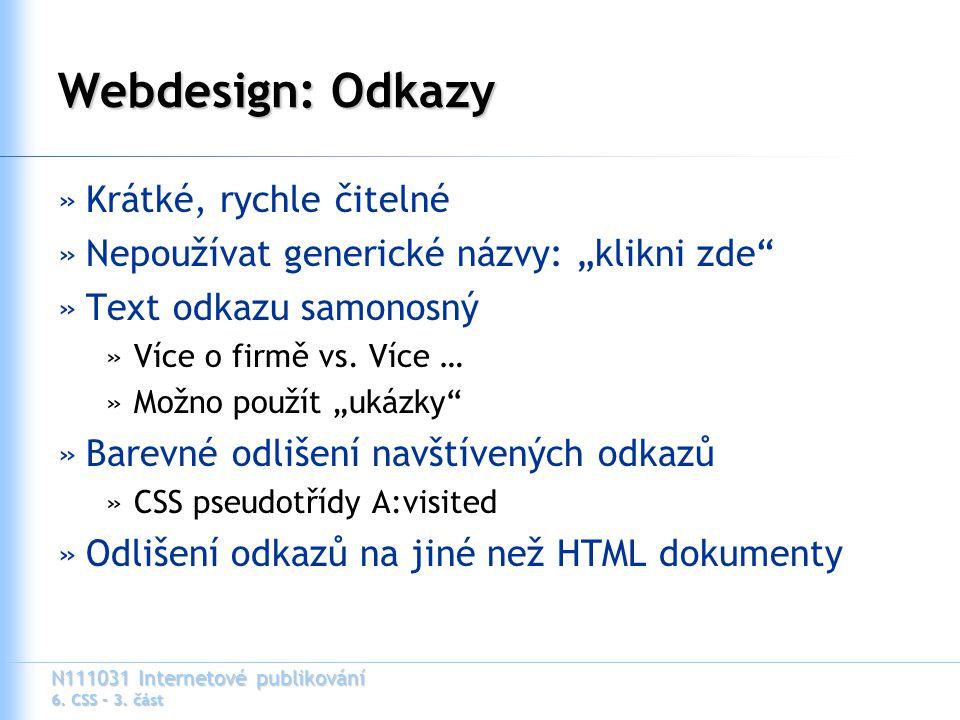 N111031 Internetové publikování 6. CSS – 3.