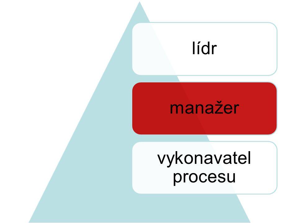 lídrmanažer vykonavatel procesu