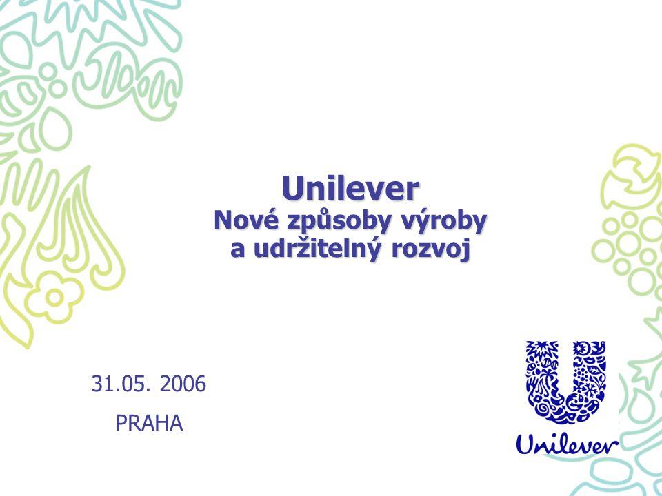 Unilever ve zkratce - Největší výrobce spotřebního zboží na světě ( potraviny, kosmetika) - Obrat 40 miliard euro p.a.