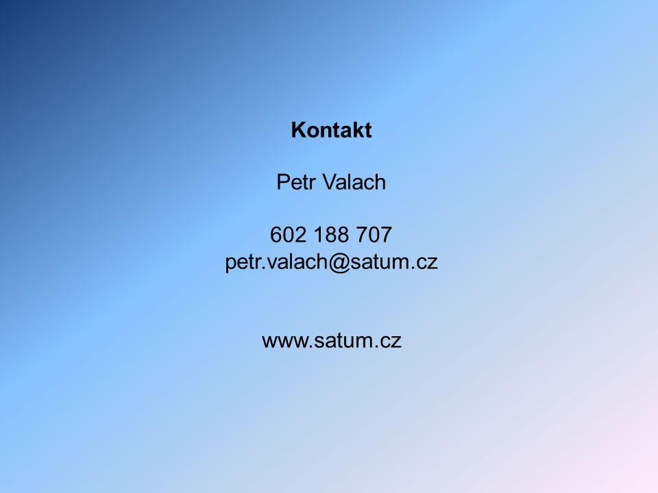 Kontakt Petr Valach 602 188 707 petr.valach@satum.cz www.satum.cz