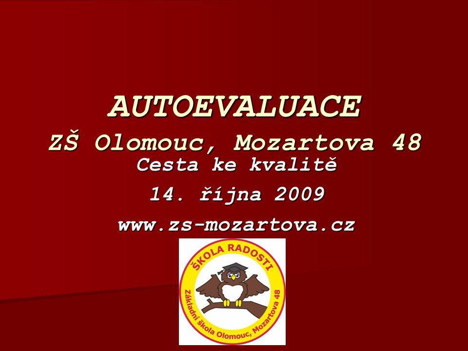 AUTOEVALUACE ZŠ Olomouc, Mozartova 48 Cesta ke kvalitě 14. října 2009 www.zs-mozartova.cz