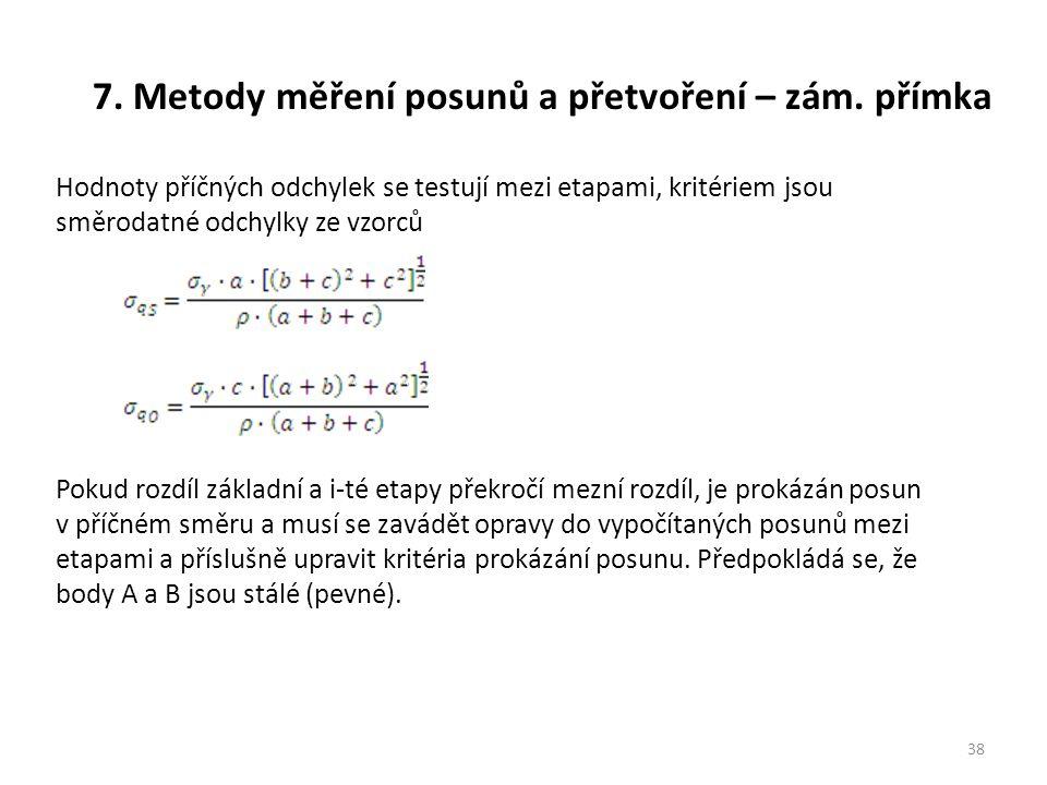 7.Metody měření posunů a přetvoření – zám.