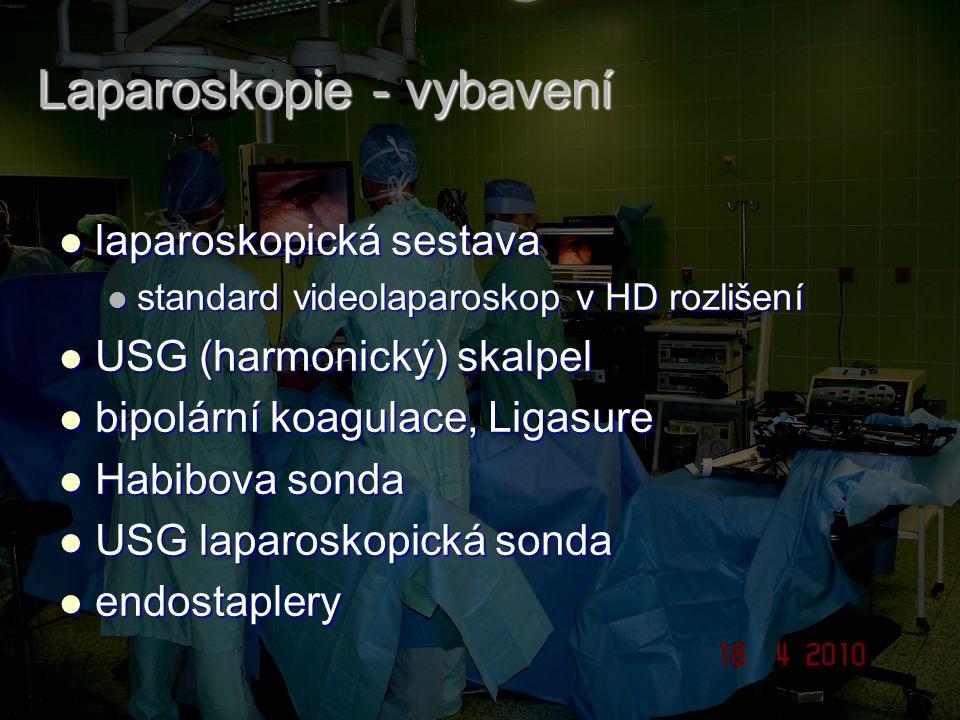 Laparoskopie - vybavení laparoskopická sestava laparoskopická sestava standard videolaparoskop v HD rozlišení standard videolaparoskop v HD rozlišení