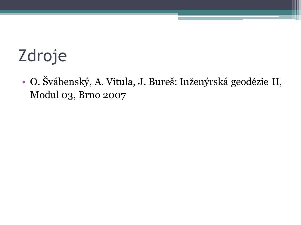 Zdroje O. Švábenský, A. Vitula, J. Bureš: Inženýrská geodézie II, Modul 03, Brno 2007
