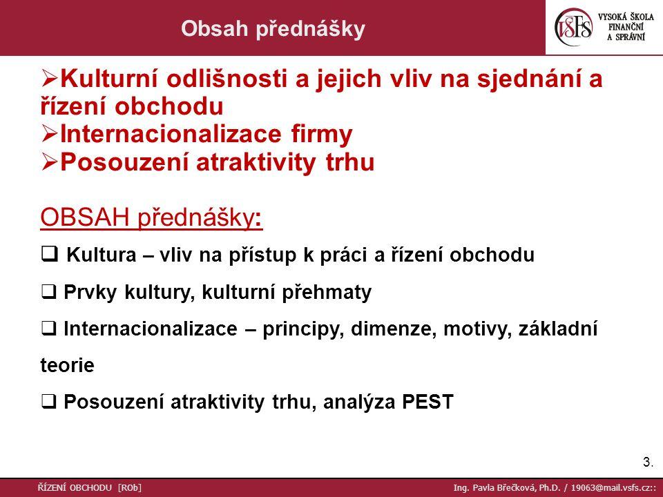 24.ŘÍZENÍ OBCHODU [ROb] Ing. Pavla Břečková, Ph.D.