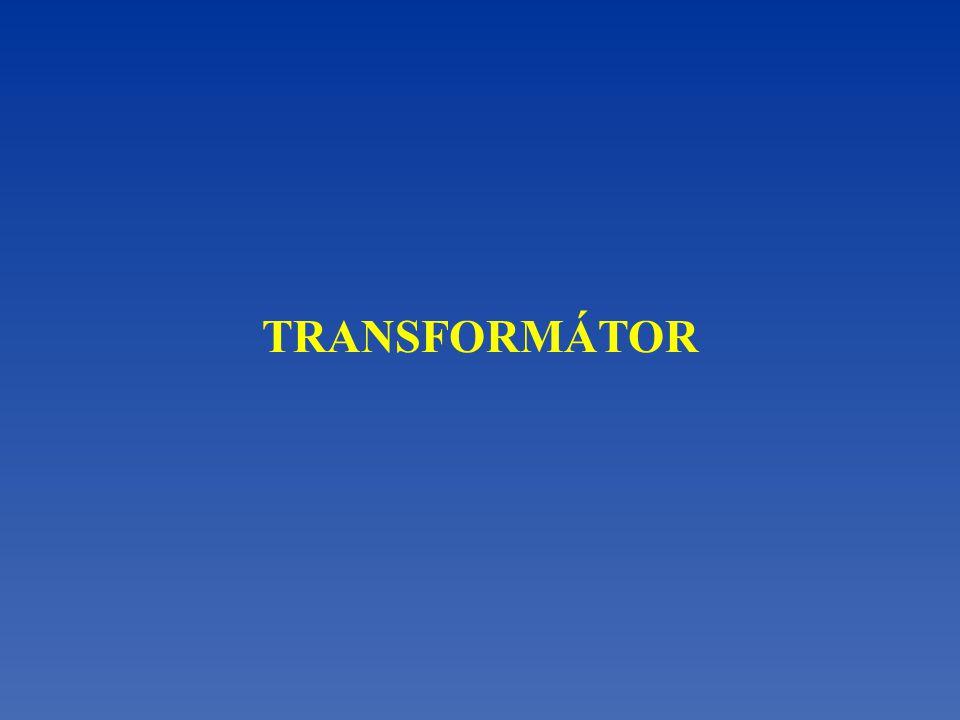 Zákon zachování energie při transformaci ~U1~U1 ~U2~U2 Proudy se transformují v obráceném poměru počtu závitů.