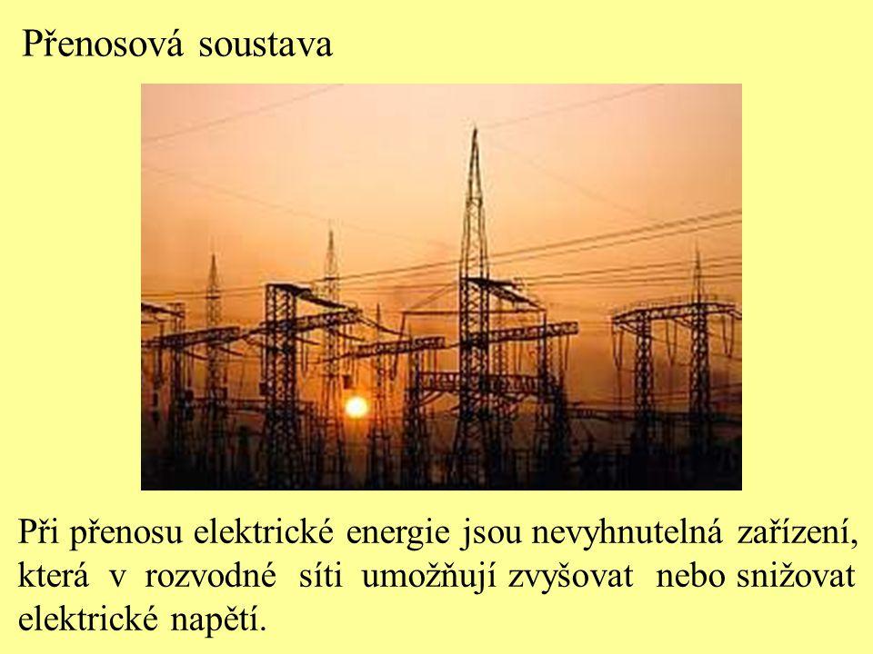 Při přenosu elektrické energie jsou nevyhnutelná zařízení, která v rozvodné síti umožňují zvyšovat nebo snižovat elektrické napětí. Přenosová soustava