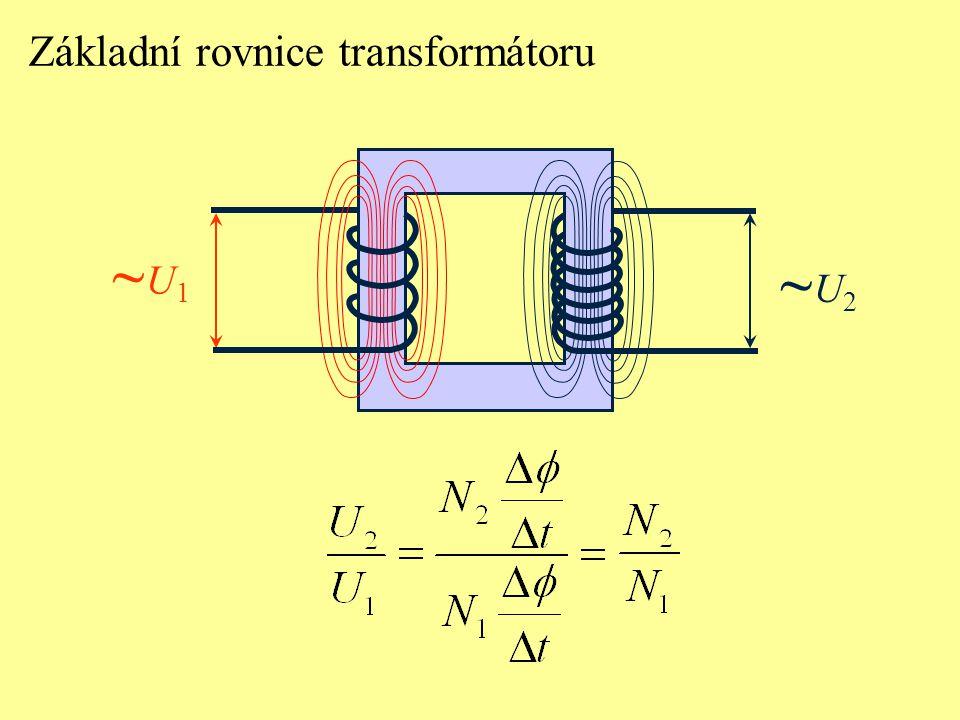 Základní rovnice transformátoru ~U1~U1 ~U2~U2