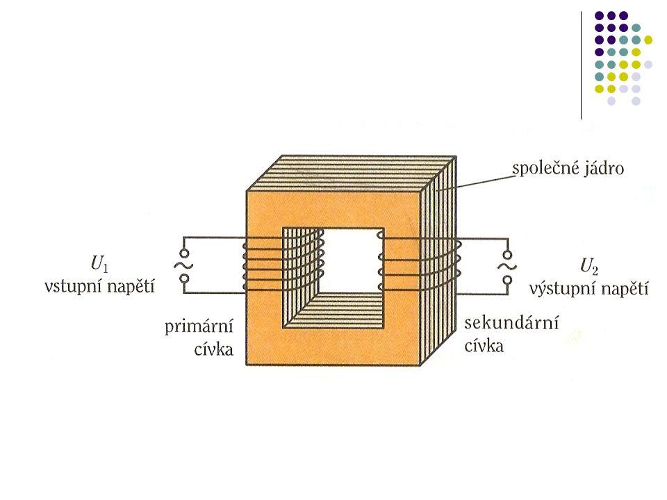 Složení: dvě cívky, společné jádro z magneticky měkké oceli.