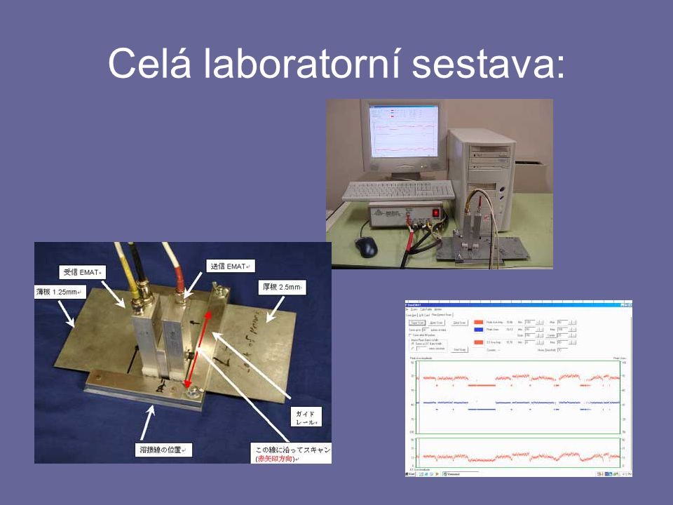 Celá laboratorní sestava: